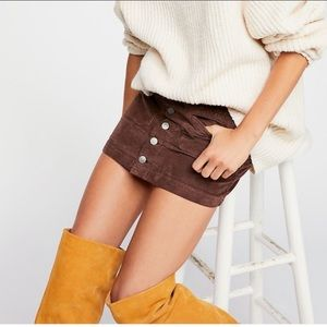 Free People   Joanie Cord Skirt   Sz 26   NWT